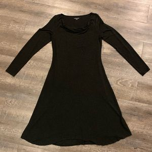 Eileen Fisher Long Sleeve Boatneck Dress X Small